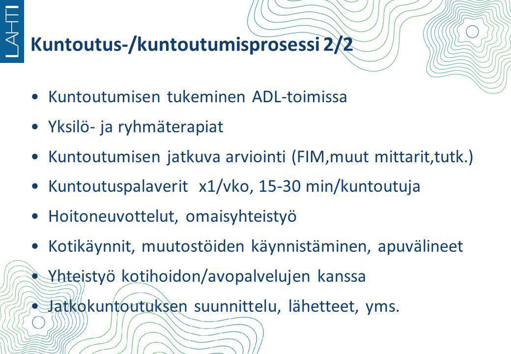 Kuntoutus-/kuntoutumisprosessi 2/2