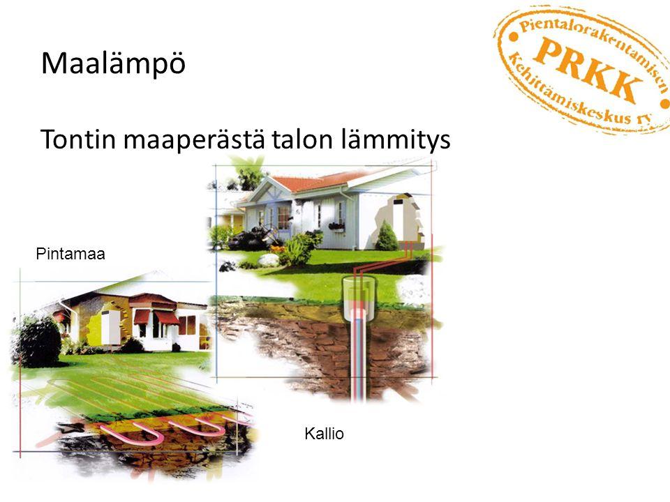Maalämpö Tontin maaperästä talon lämmitys Pintamaa Kallio