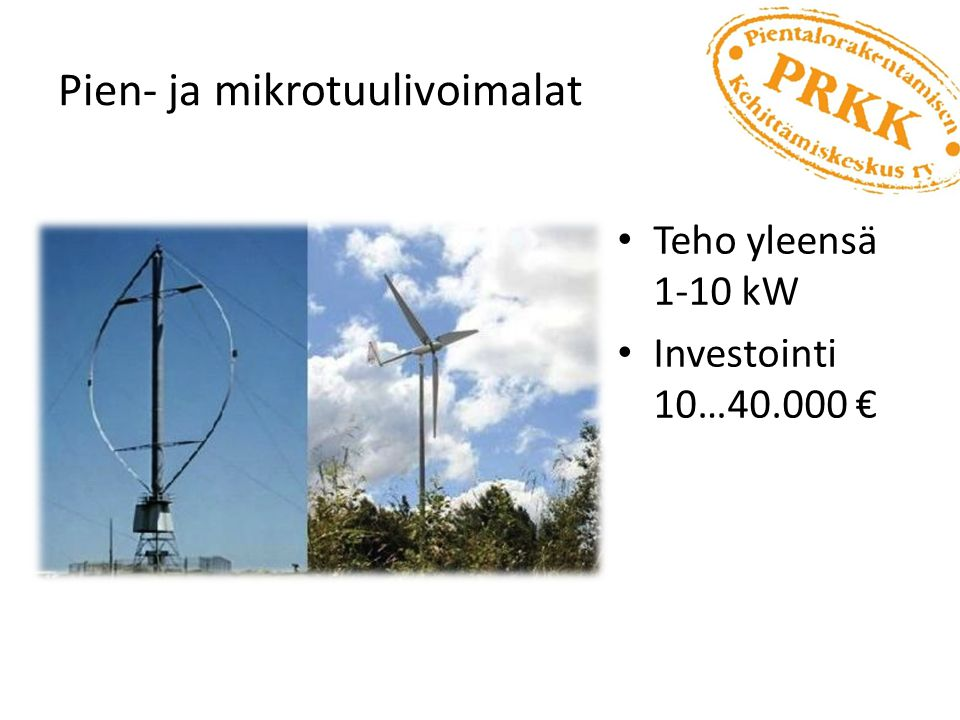 Pien- ja mikrotuulivoimalat