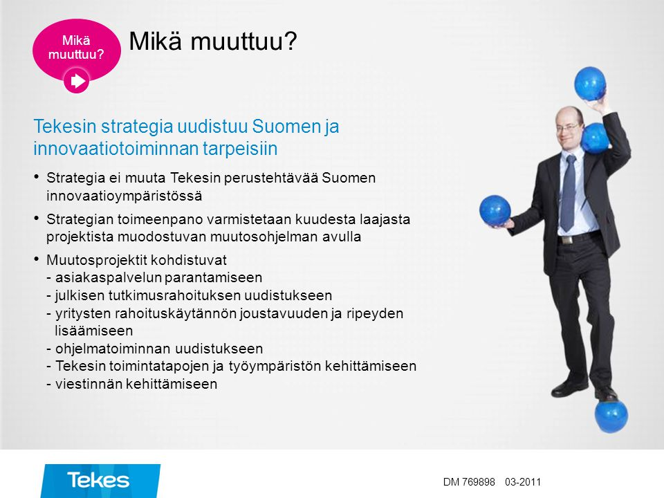 Tekesin strategia uudistuu Suomen ja innovaatiotoiminnan tarpeisiin