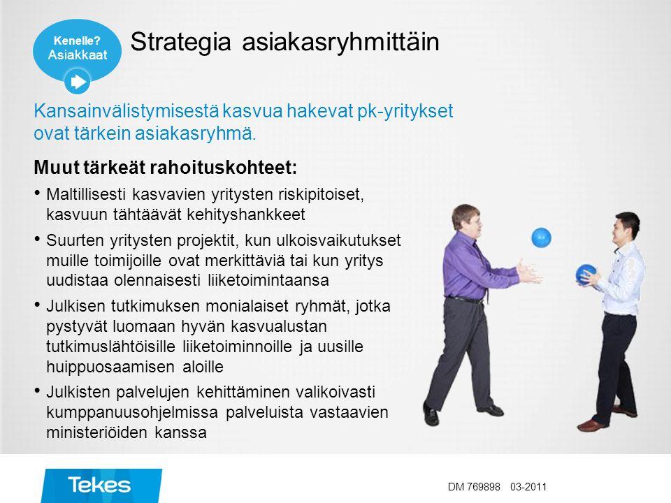 Strategia asiakasryhmittäin