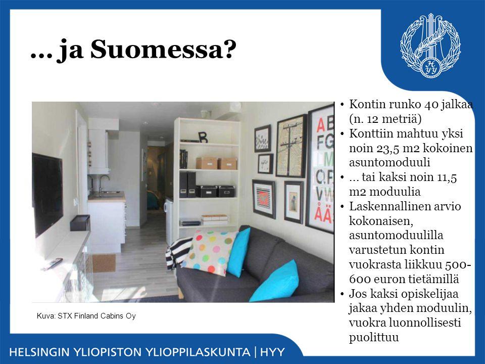 … ja Suomessa Kontin runko 40 jalkaa (n. 12 metriä)