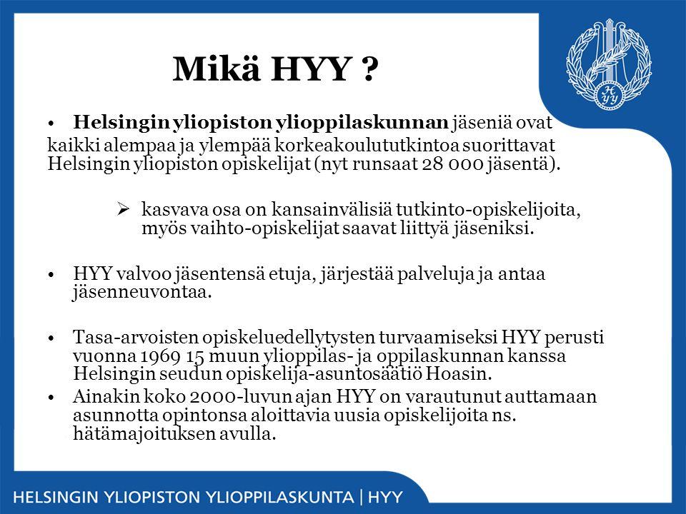 Mikä HYY Helsingin yliopiston ylioppilaskunnan jäseniä ovat