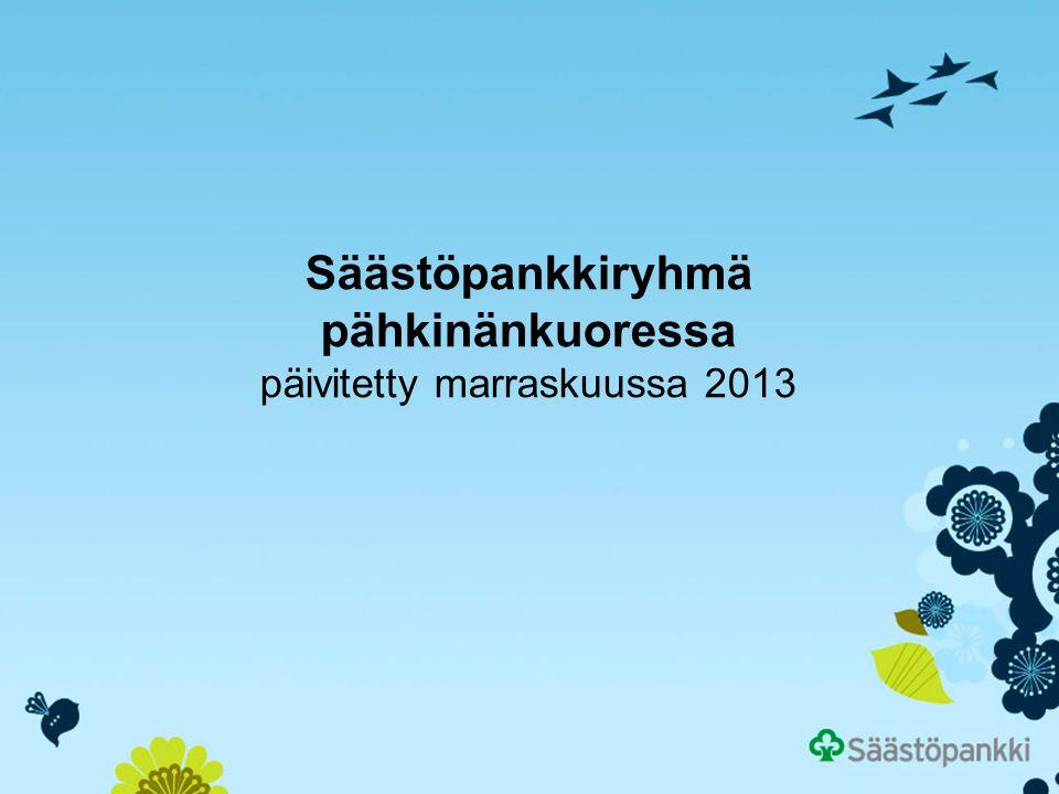 Säästöpankkiryhmä pähkinänkuoressa päivitetty marraskuussa 2013