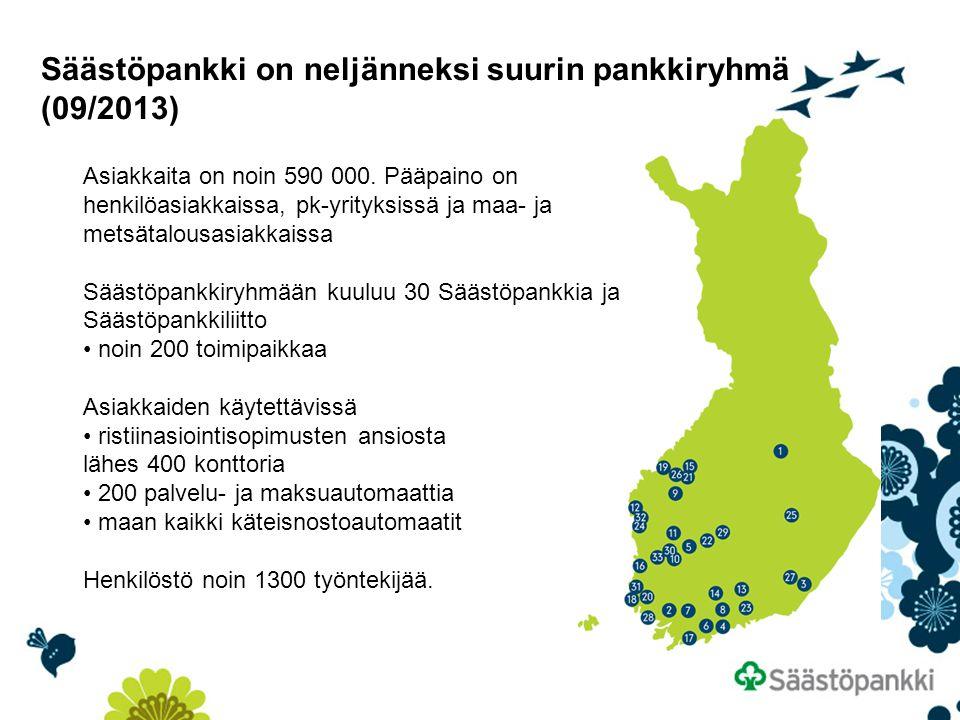 Säästöpankki on neljänneksi suurin pankkiryhmä (09/2013)