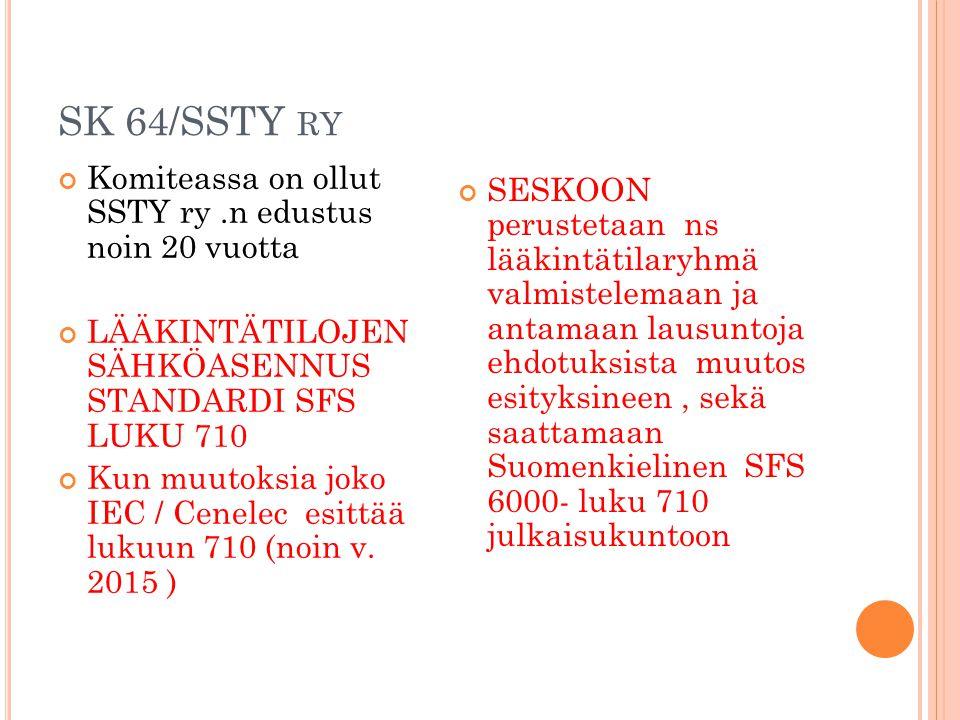 SK 64/SSTY ry Komiteassa on ollut SSTY ry .n edustus noin 20 vuotta