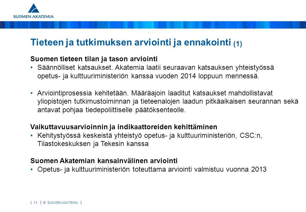 Tieteen ja tutkimuksen arviointi ja ennakointi (1)