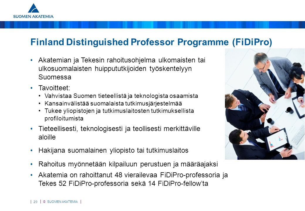 FiDiPro Finland Distinguished Professor Programme (FiDiPro)