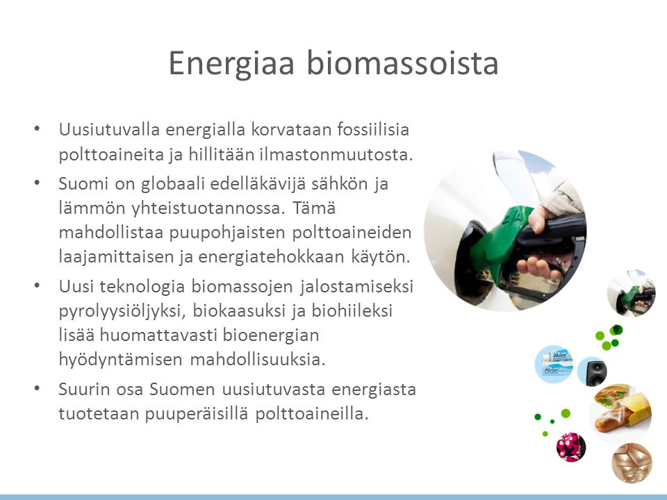 Energiaa biomassoista