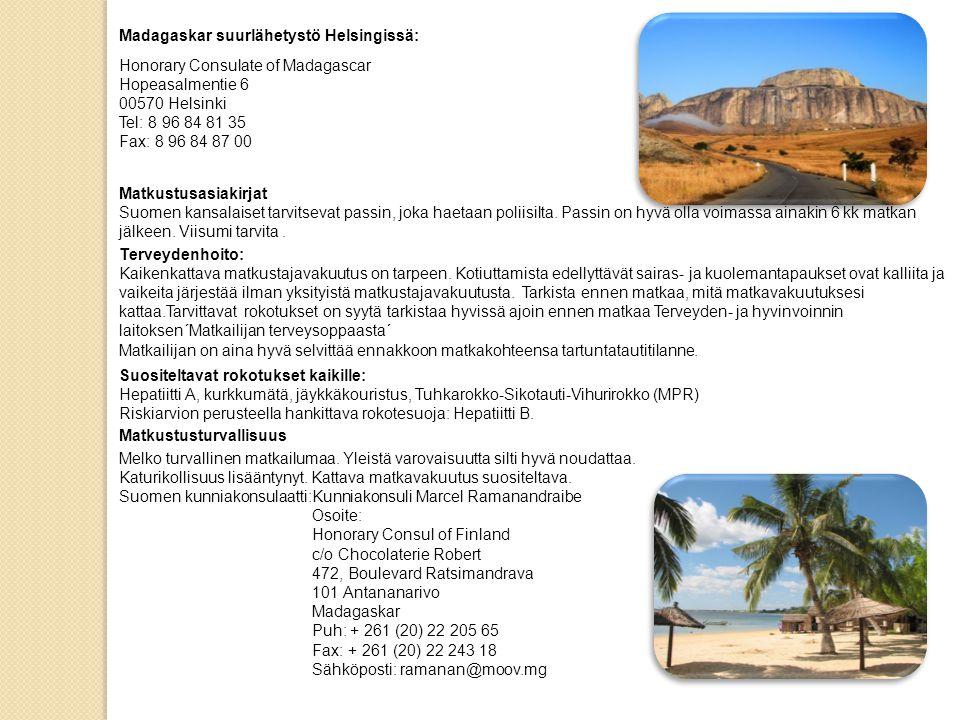 Madagaskar suurlähetystö Helsingissä: