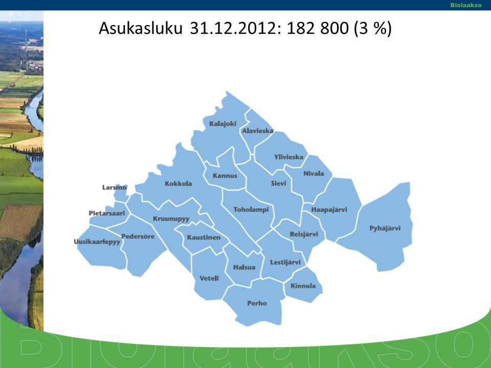 Asukasluku 31.12.2012: 182 800 (3 %)