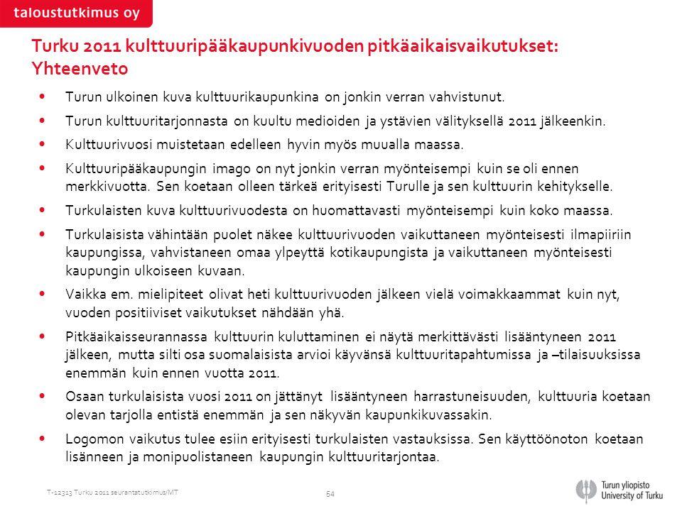 Turku 2011 kulttuuripääkaupunkivuoden pitkäaikaisvaikutukset: Yhteenveto