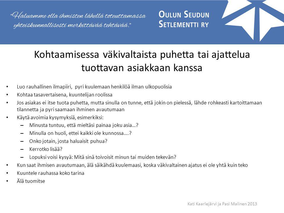 Kati Kaarlejärvi ja Pasi Malinen 2013