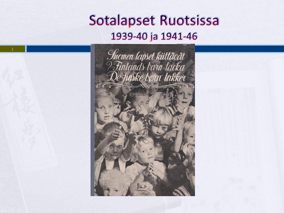 Sotalapset Ruotsissa 1939-40 ja 1941-46