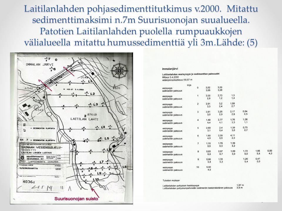 Laitilanlahden pohjasedimenttitutkimus v. 2000