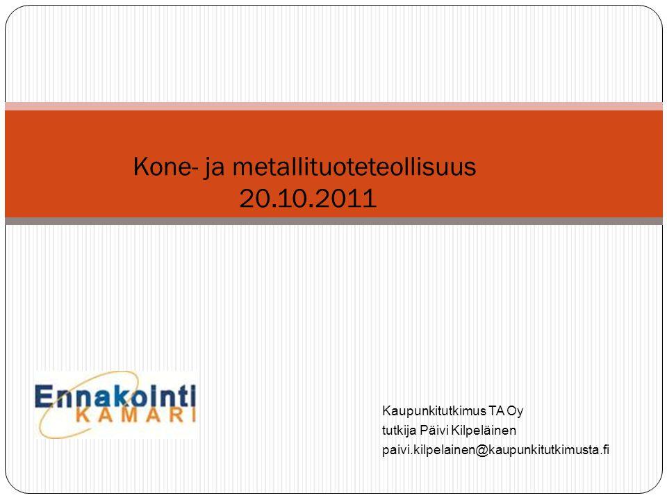 Kone- ja metallituoteteollisuus 20.10.2011