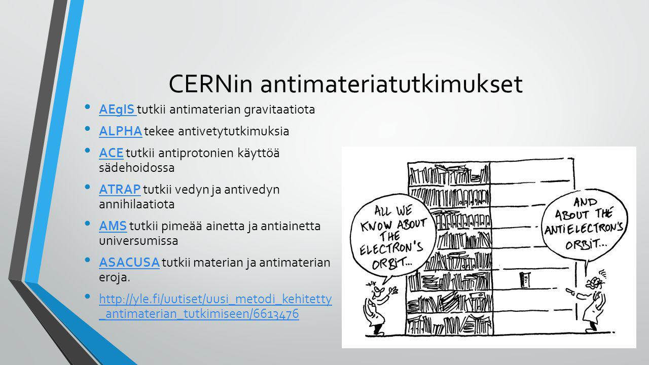 CERNin antimateriatutkimukset