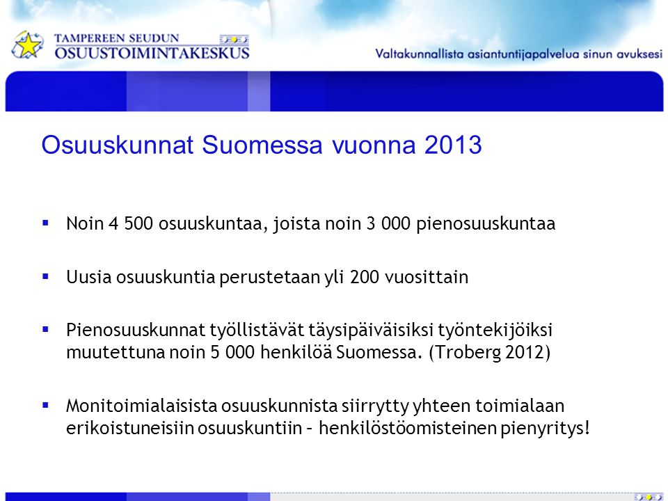 Osuuskunnat Suomessa vuonna 2013