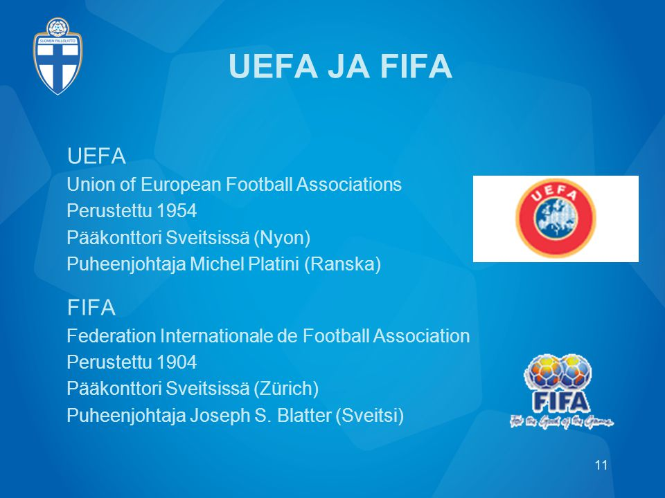UEFA JA FIFA UEFA FIFA Union of European Football Associations