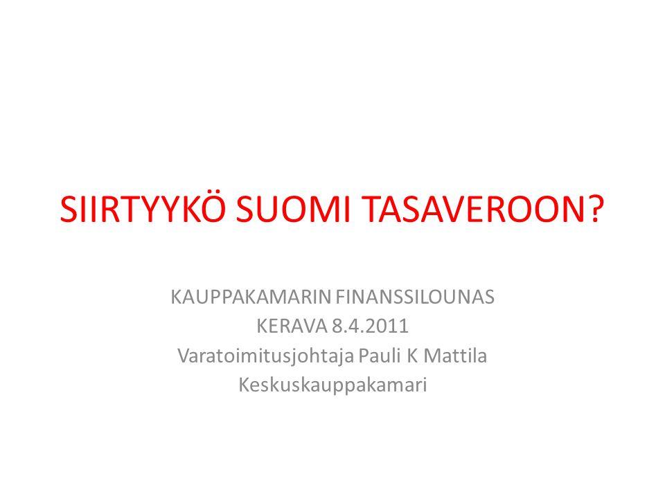 SIIRTYYKÖ SUOMI TASAVEROON