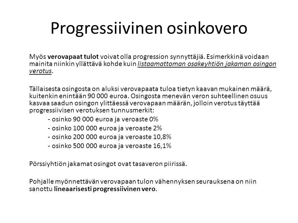 Progressiivinen osinkovero