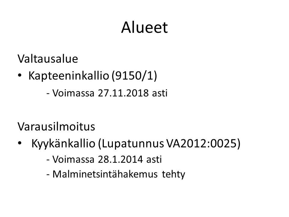 Alueet Valtausalue Kapteeninkallio (9150/1) - Voimassa 27.11.2018 asti