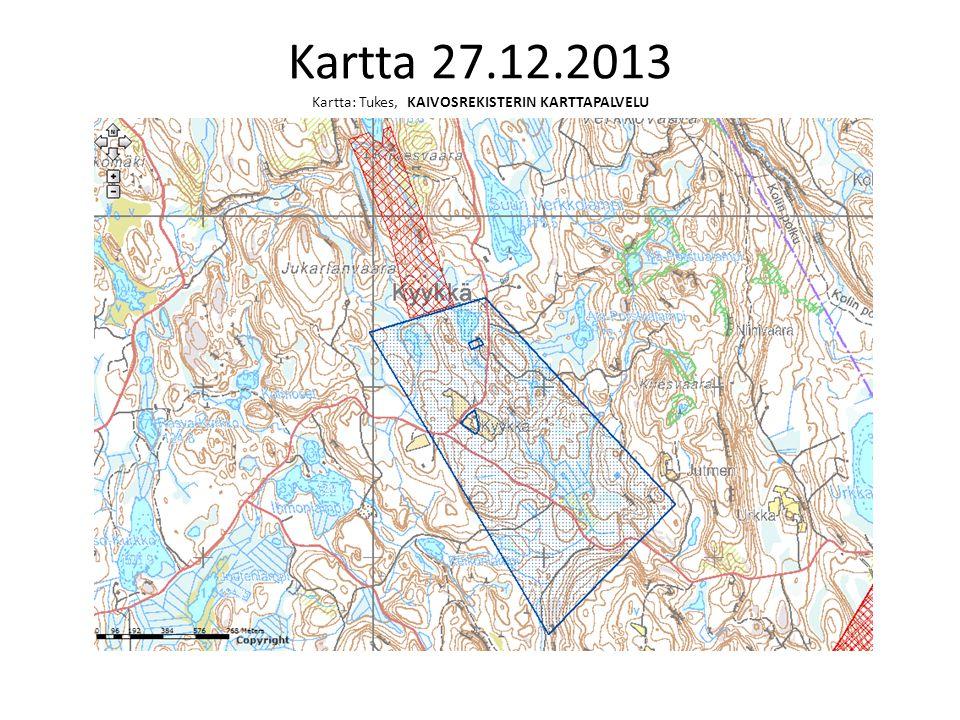 Kartta 27.12.2013 Kartta: Tukes, KAIVOSREKISTERIN KARTTAPALVELU