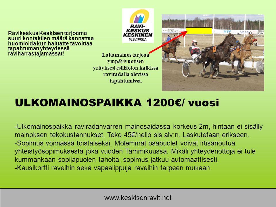 ULKOMAINOSPAIKKA 1200€/ vuosi