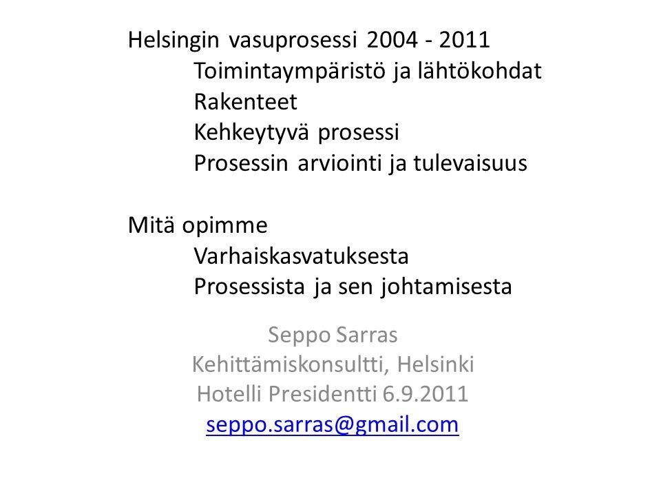 Kehittämiskonsultti, Helsinki