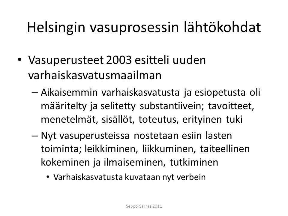Helsingin vasuprosessin lähtökohdat