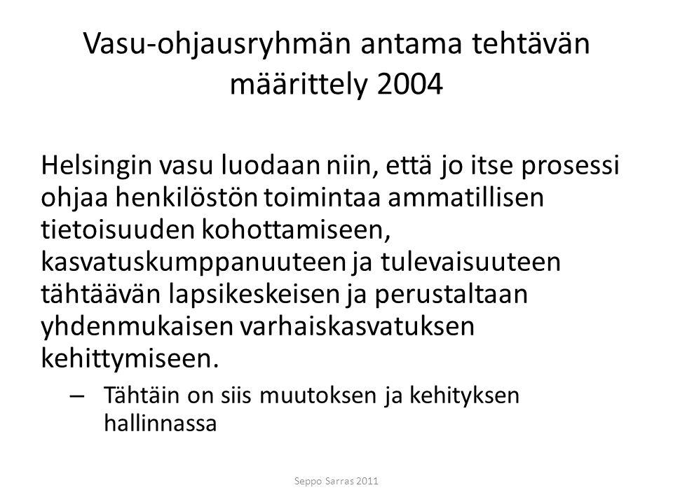 Vasu-ohjausryhmän antama tehtävän määrittely 2004