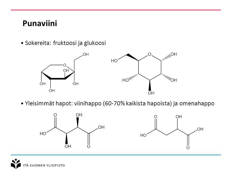 Punaviini Sokereita: fruktoosi ja glukoosi
