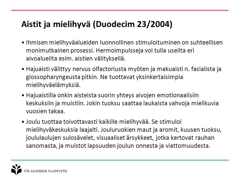 Aistit ja mielihyvä (Duodecim 23/2004)