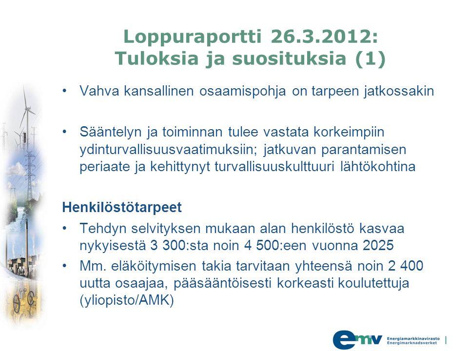 Loppuraportti 26.3.2012: Tuloksia ja suosituksia (1)