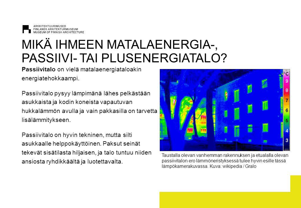 MIKÄ IHMEEN MATALAENERGIA-, PASSIIVI- TAI PLUSENERGIATALO