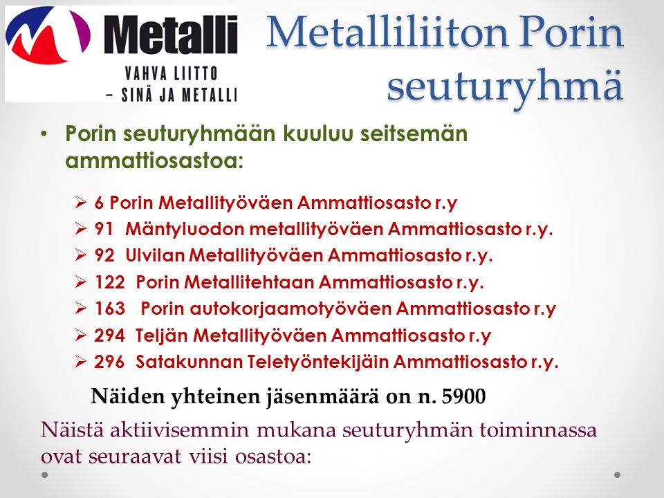 Metalliliiton Porin seuturyhmä