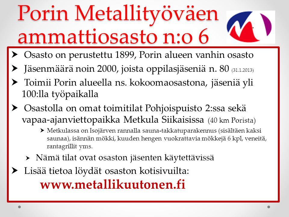 Porin Metallityöväen ammattiosasto n:o 6