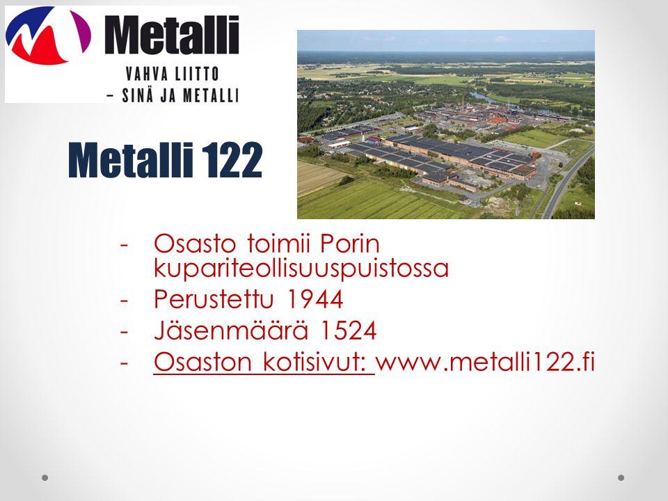 Metalli 122 Osasto toimii Porin kupariteollisuuspuistossa