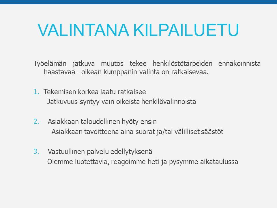 VALINTANA KILPAILUETU