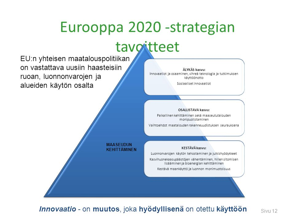 Eurooppa 2020 -strategian tavoitteet