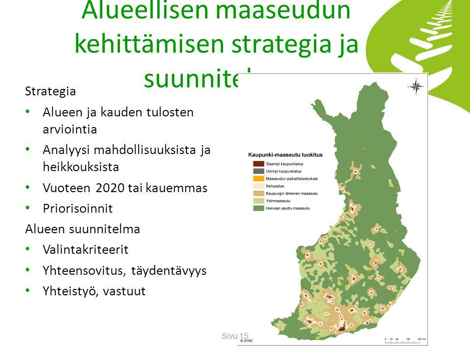Alueellisen maaseudun kehittämisen strategia ja suunnitelma