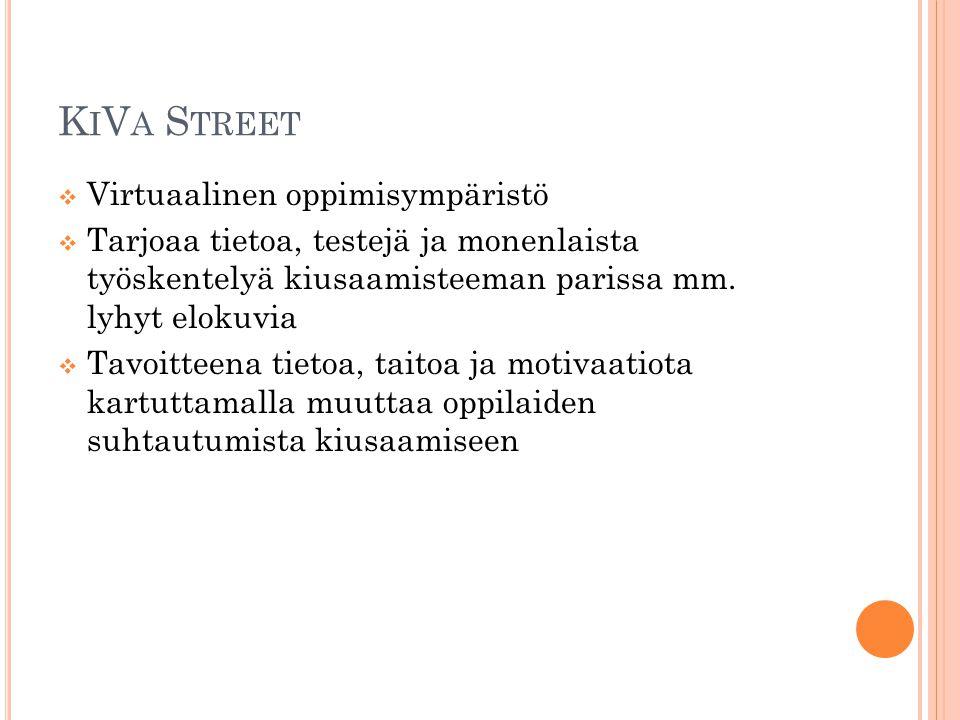 KiVa Street Virtuaalinen oppimisympäristö