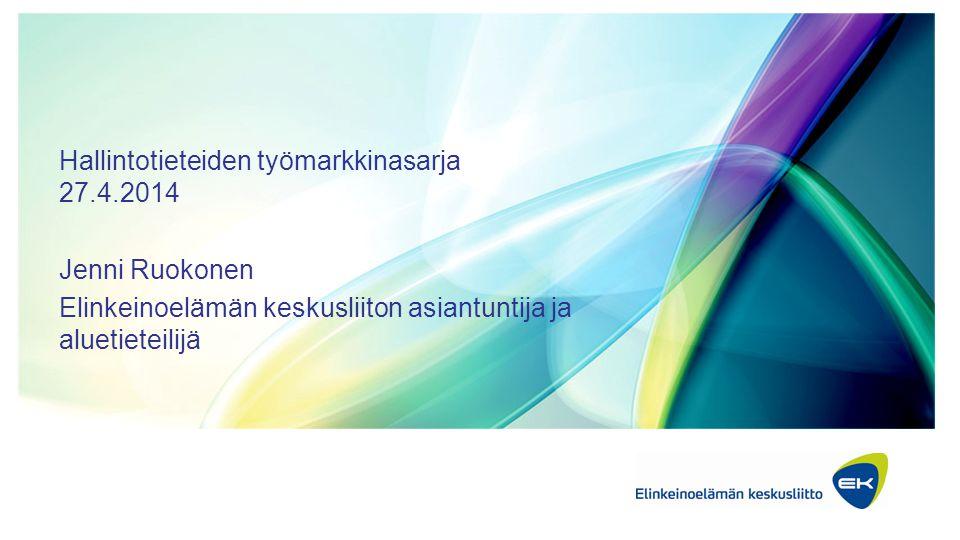 Hallintotieteiden työmarkkinasarja 27.4.2014
