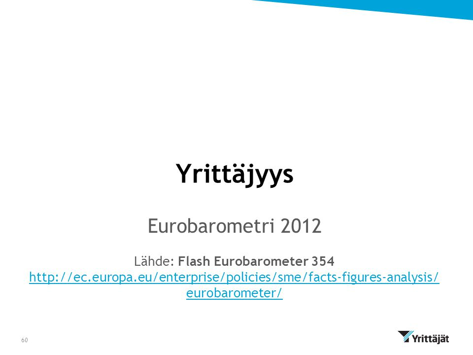 Lähde: Flash Eurobarometer 354