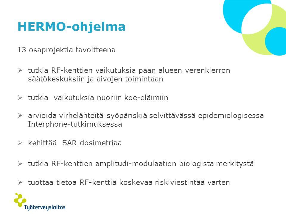 HERMO-ohjelma 13 osaprojektia tavoitteena