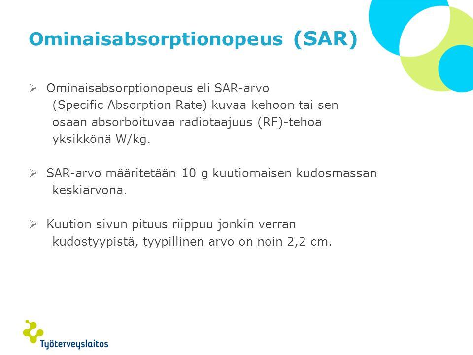 Ominaisabsorptionopeus (SAR)