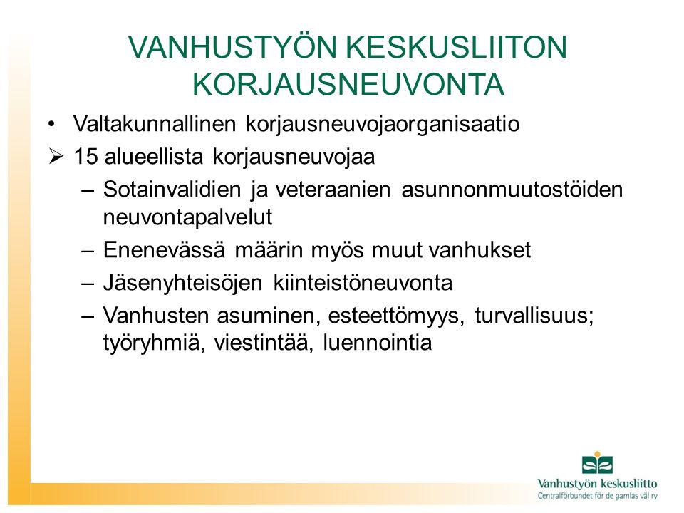 VANHUSTYÖN KESKUSLIITON KORJAUSNEUVONTA