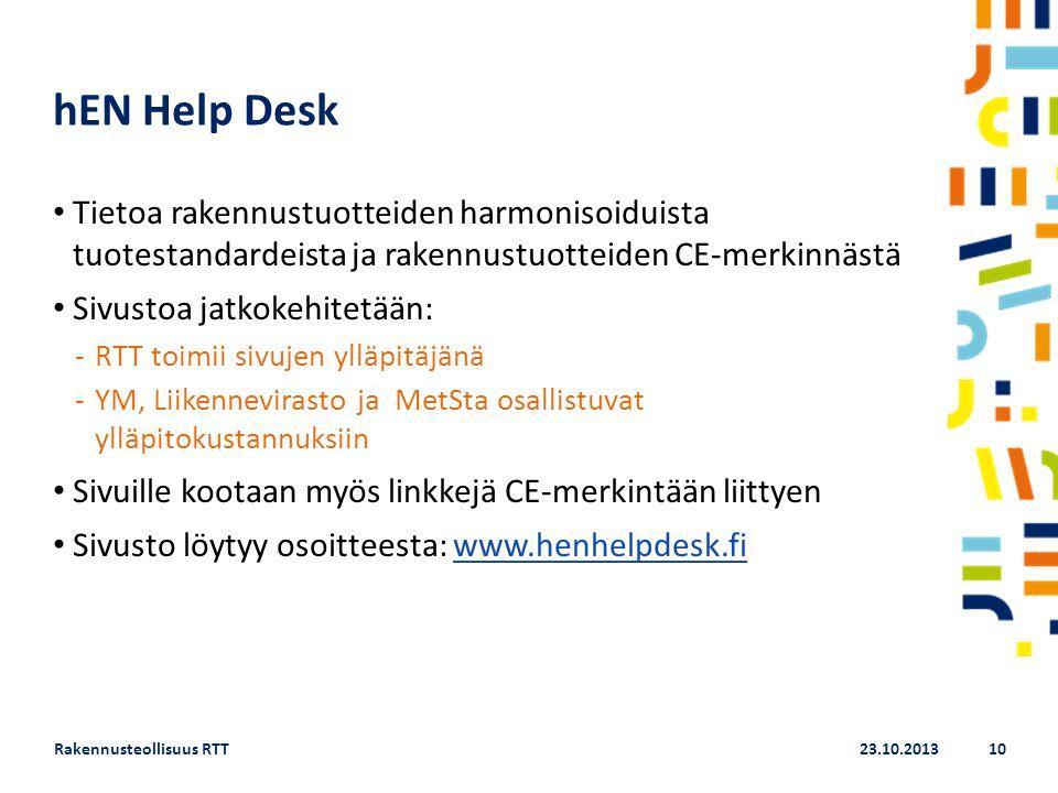 hEN Help Desk Tietoa rakennustuotteiden harmonisoiduista tuotestandardeista ja rakennustuotteiden CE-merkinnästä.