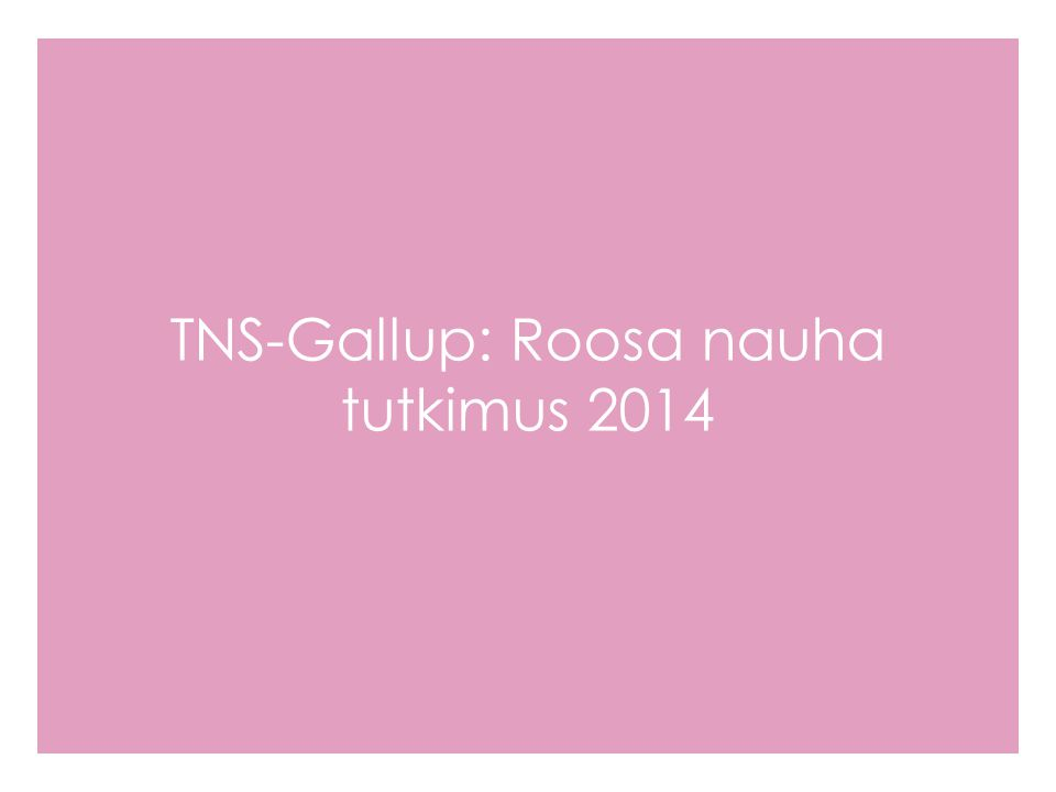 TNS-Gallup: Roosa nauha tutkimus 2014
