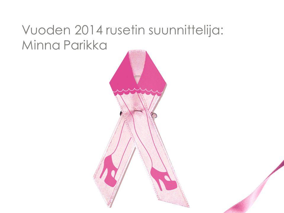 Vuoden 2014 rusetin suunnittelija: Minna Parikka